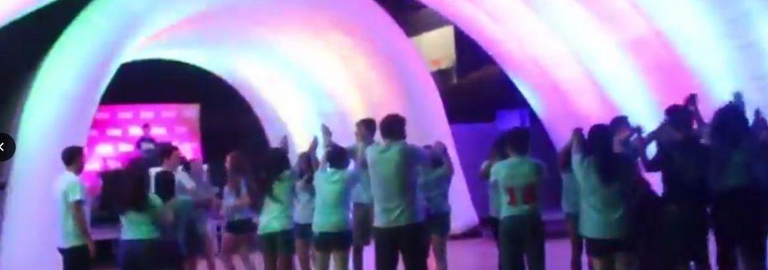 Snapshot from the Dance Marathon promotion video
