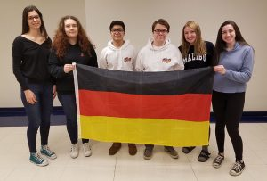 photo of Niles West students who received summer study scholarships from PASCH / Goethe Institute