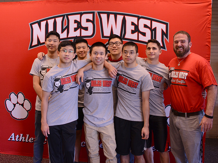 Niles West Gymnasts who will compete at state