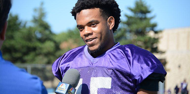 NN football player Myles Davis, Wintrust Athlete of the Week