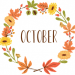 "A graphic that says ""October"""