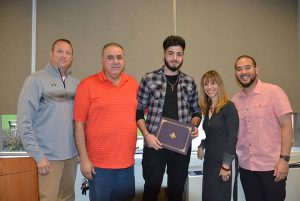 Niles North student Jan Sabeeh received a Principal Recognition Award