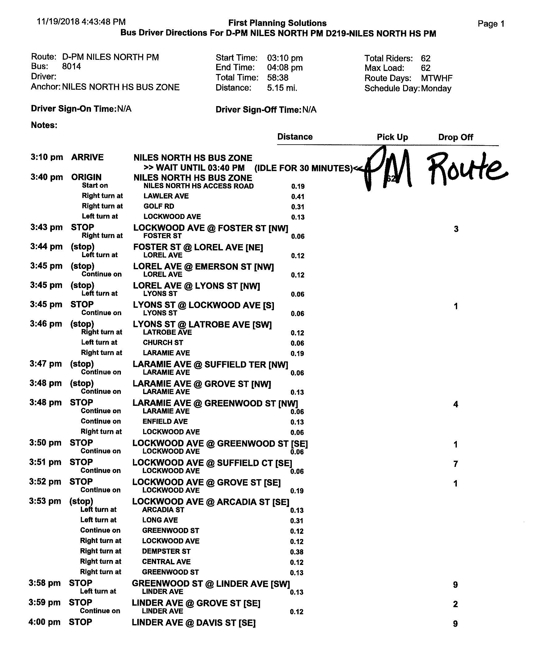 changes to Niles North bus route d (page three)