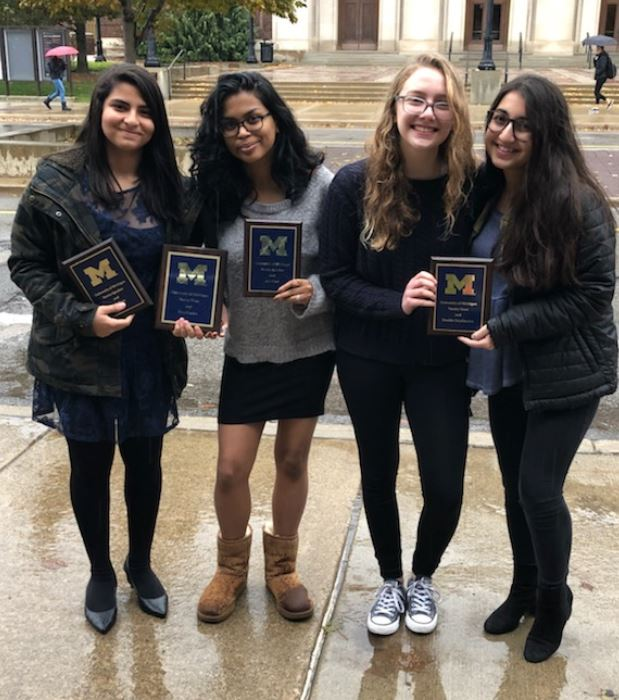 Niles West Debate Students at University of Michigan tournament