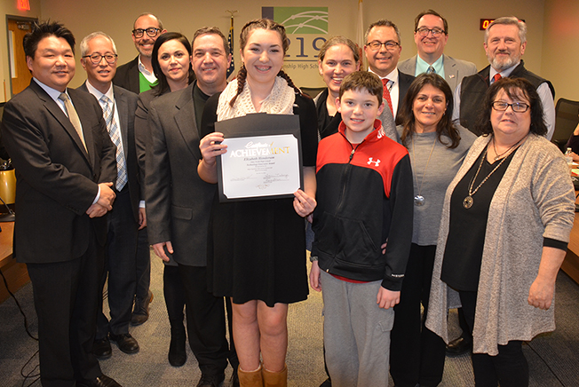 Ellie Henderson - North - received a Tech Innovators Award from BOe