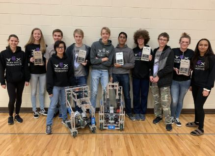 Niles North 333R and 333D won the Red Raider VEX Robotics Competition