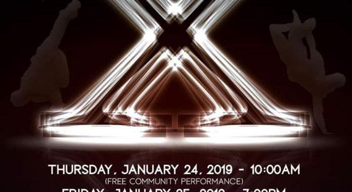 Auroris Dance Company X poster for January 24-26 2019
