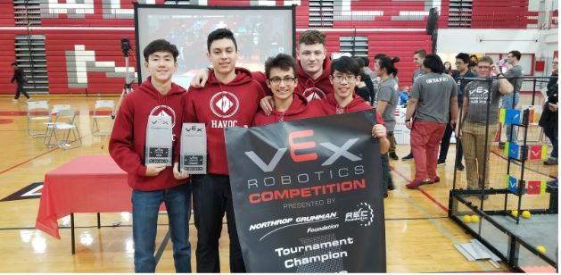 The Niles West team 321H crowned the VEX Robotics State Champion