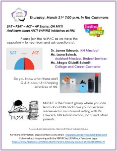 Flyer for NNPAC Meeting on March 21 2019