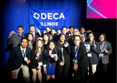 North DECA students who made Top 10 at State 2019