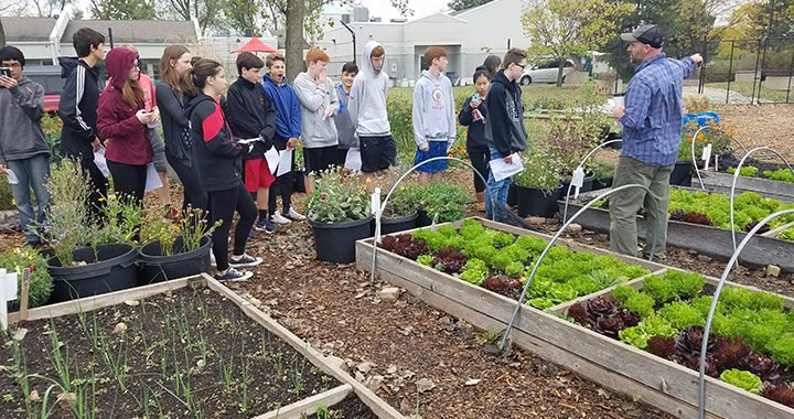 German students at Skokie Talking Farm