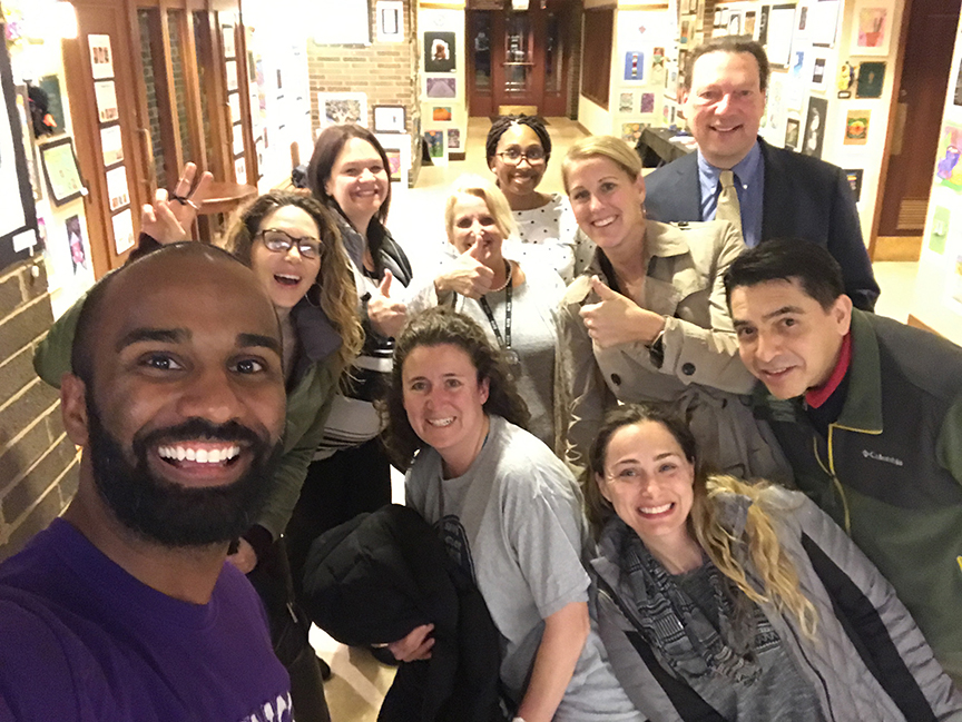 The Village of Lincolnwood approved D219's proposal to purchase a bldg for the Bridges program. Here are the Bridges teachers after the approval.