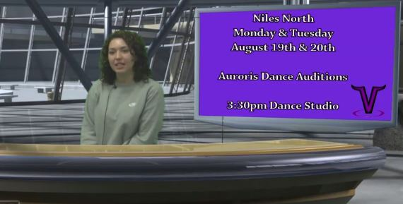 Screen shot of A Look Ahead for August 19 - 23 features anchor