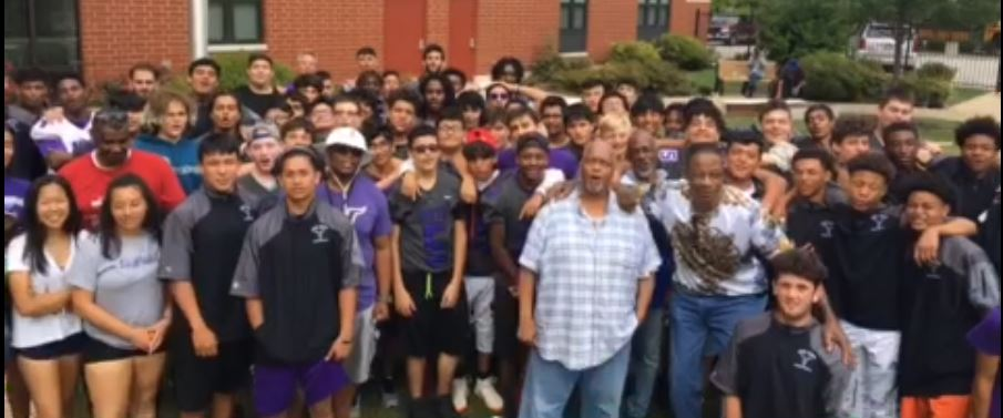 Niles North football shows compassion on Labor Day