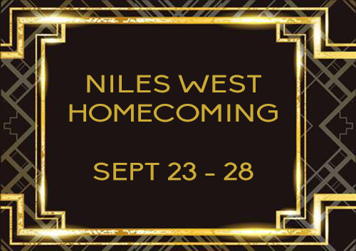 Niles West Homecoming 2019 background slide