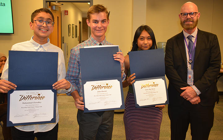 Students Honored at 10-15-19 Board meeting