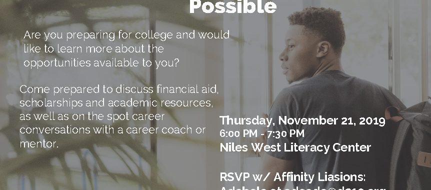 AFFINITY Meeting flyer for November 21