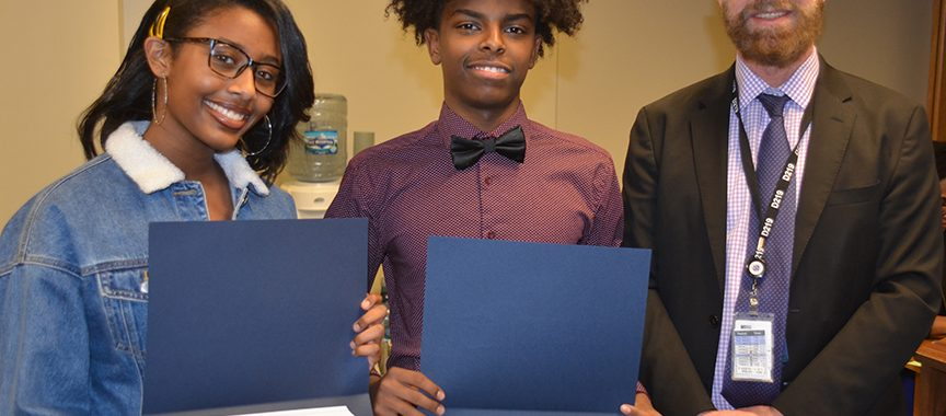 Students Honored at D219 Board meeting on