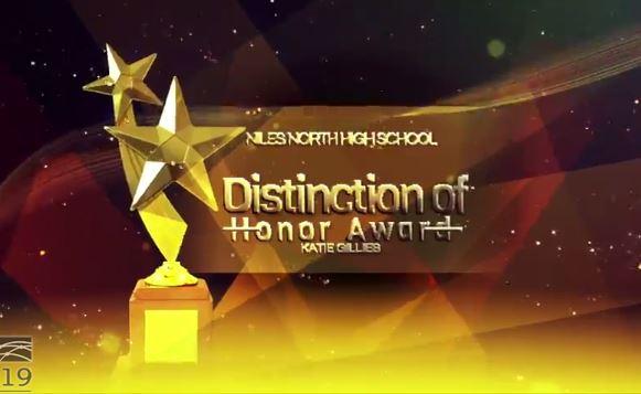 Distinction of Honor for teacher Katie Gillies