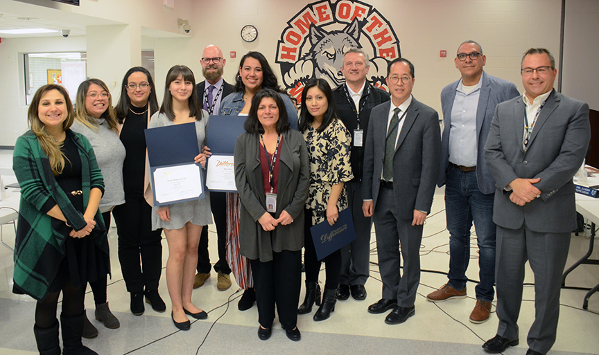 Latinx Club honored at Board Meeting 1-14-20