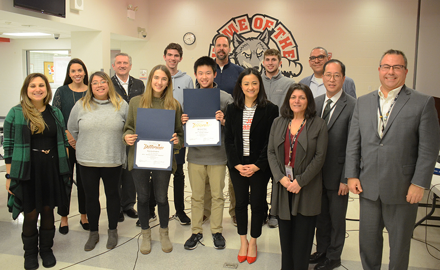 West DECA members honored by Board at 1-14-20 meeting