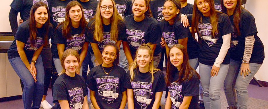 Niles North Cheer team