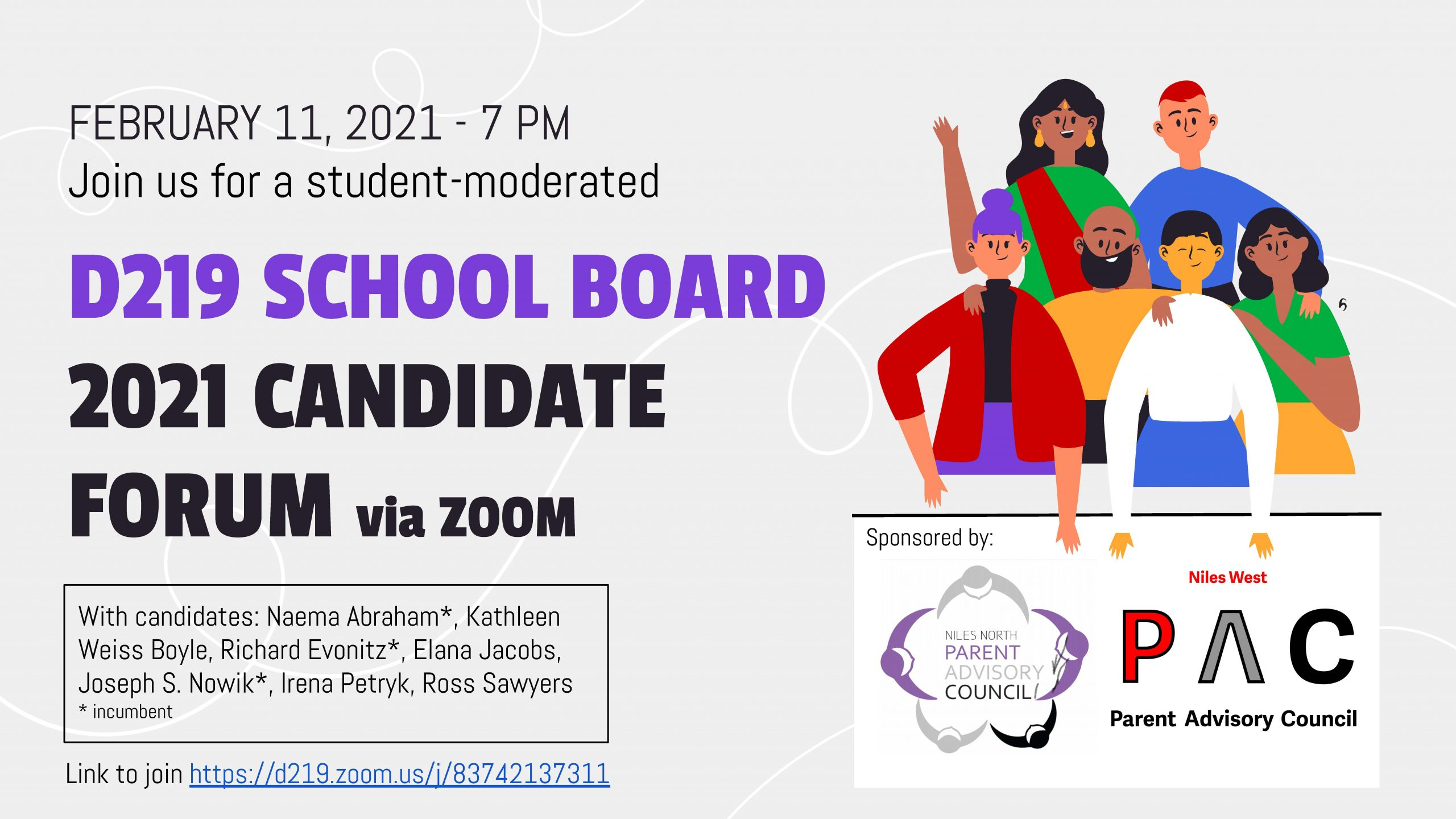 Board of Ed Candidate Forum Flyer