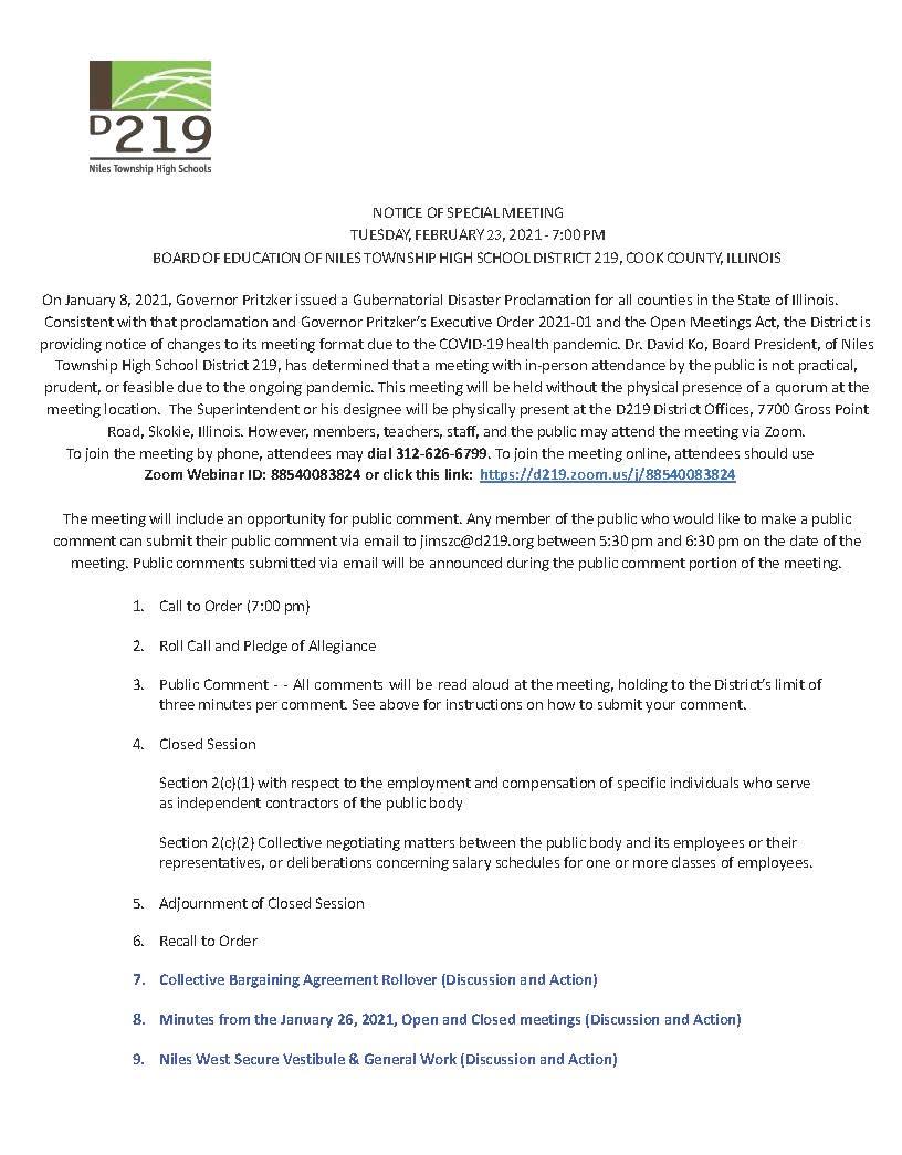 BOE 2-23-21 Agenda