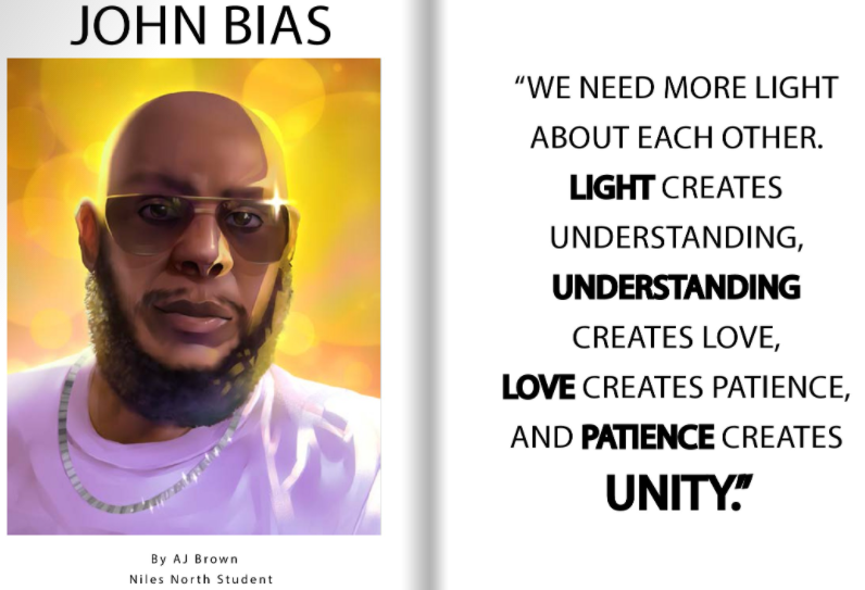 John Bias page in BHM illustrated book