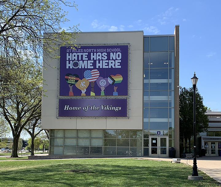 Niles North updated signage