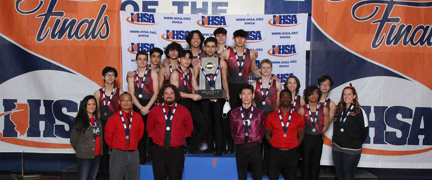 NILES WEST BOYS GYMNASTICS TOOK 2ND PLACE IN STATE