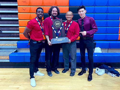 Coach Ray Payne, Coach Adrian Batista, Coach Keith Mukai, and Coach Dalai Jamiyankhuu