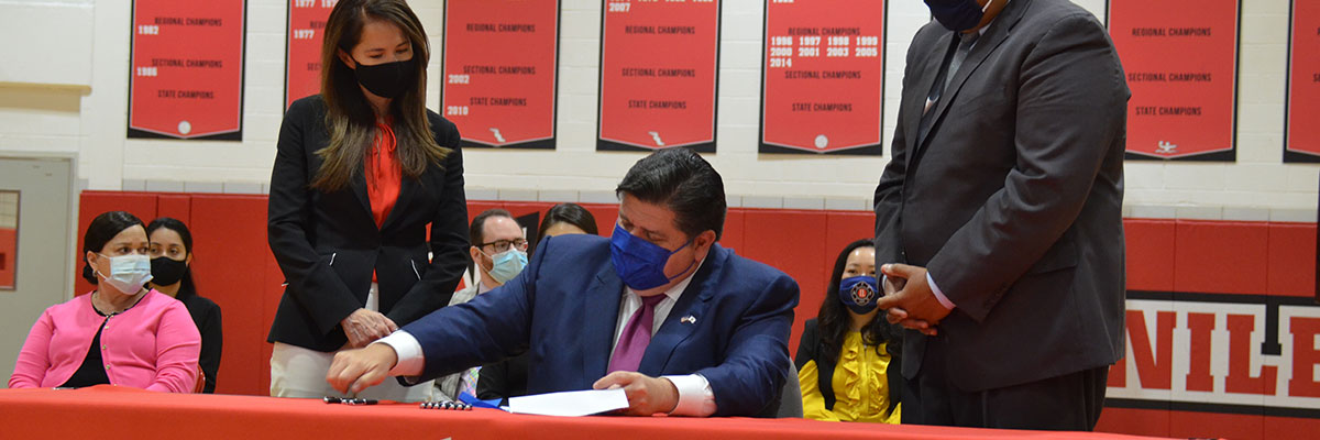 Governor Pritzker signing of the TEAACH Act